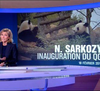 Claire Chazal sur le plateau du 13 heures de TF1.