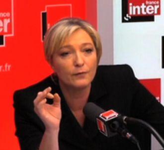 Marine Le Pen et Patrick Cohen sur France Inter.