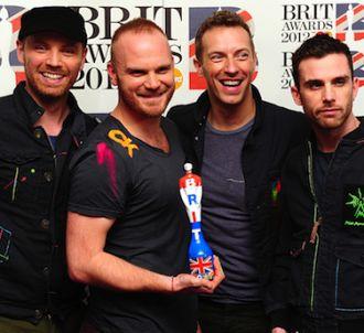 Coldplay sur le tapis rouge des Brit Awards 2012