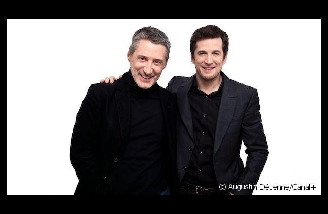 Antoine de Caunes, Maître de Cérémonie des César, et Guillaume Canet, Président du jury