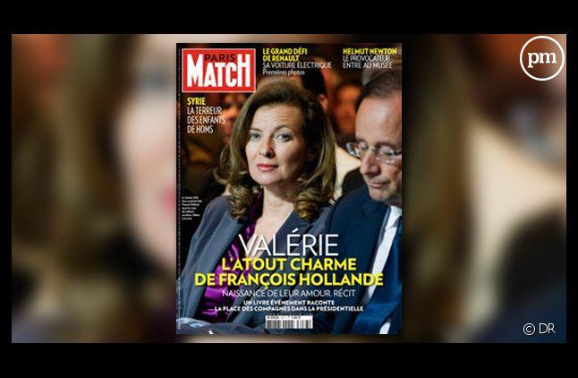 Valérie Trierweiler, compagne de François Hollande, à la Une de Paris Match.