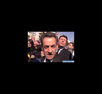 Nicolas Sarkozy en déplacement à Nice, le 9 mars 2012