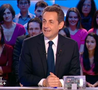 Nicolas Sarkozy dans 'Le Grand Journal' de Canal +.