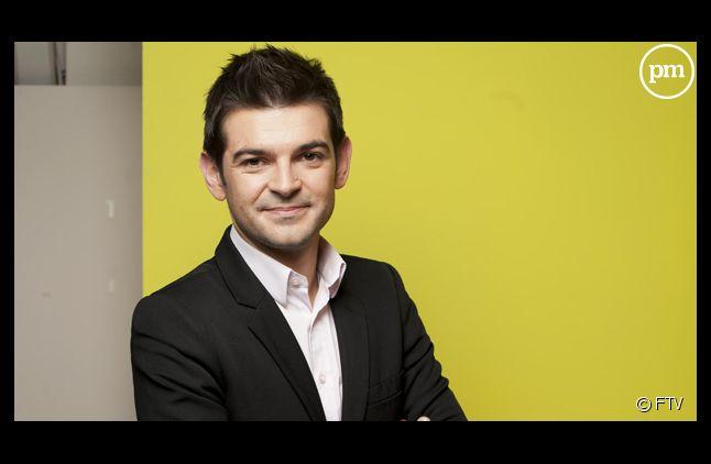 """Philippe Gaudin, journaliste pour """"C à vous"""" sur France 5."""