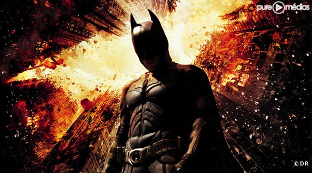 "L'affiche du film ""Batman : The Dark Knight Rises""."