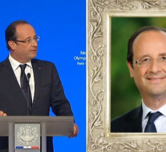 François Hollande évoque à la fois les athlètes français...