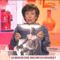 Zapping : Roselyne Bachelot fan des Dieux du Stade !