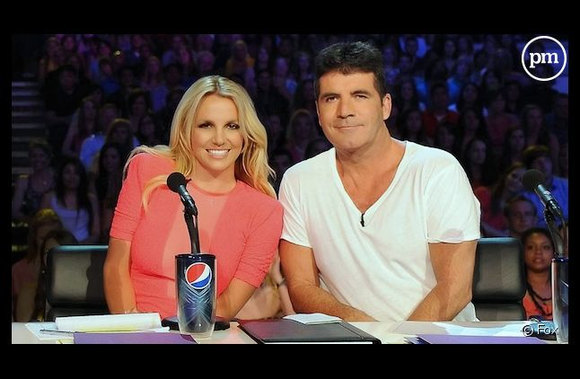 """Britney Spears et Simon Cowell lors des auditions de """"The X Factor"""""""