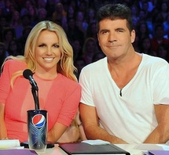 Britney Spears et Simon Cowell lors des auditions de 'The...