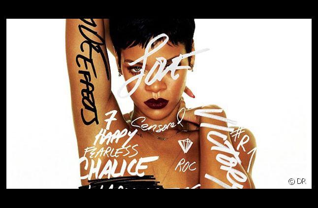 "Rihanna sur la pochette de son album ""Unapologetic"""