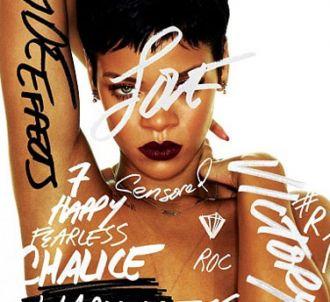 Rihanna sur la pochette de son album 'Unapologetic'
