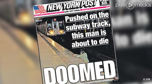 "La Une du ""New York Post"""