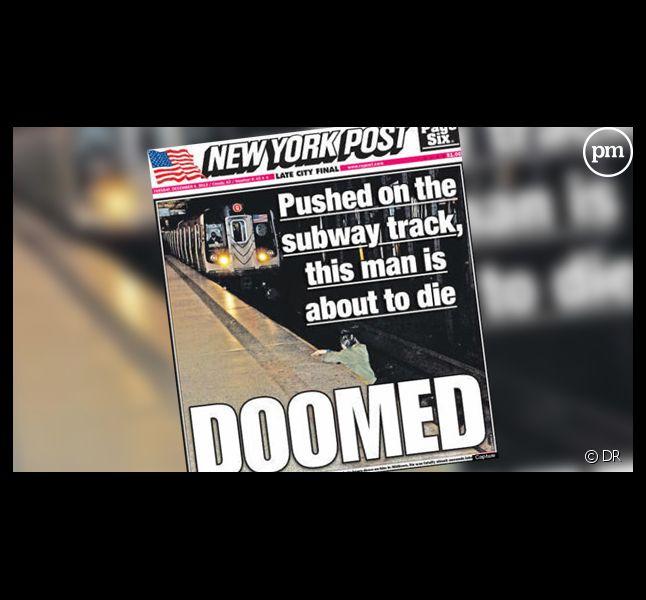 """La Une du """"New York Post"""""""