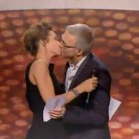 Zapping : Laurent Ruquier et Virginie Guilhaume s'embrassent aux