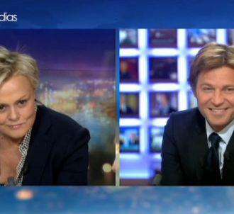 Muriel Robin et Laurent Delahousse.
