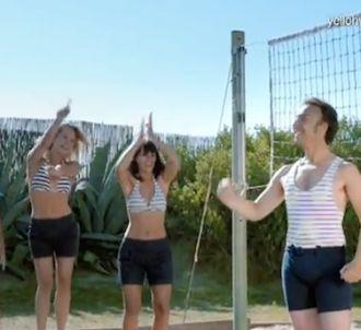 Stépahne Bern fait du volley pour une pub pour un camping