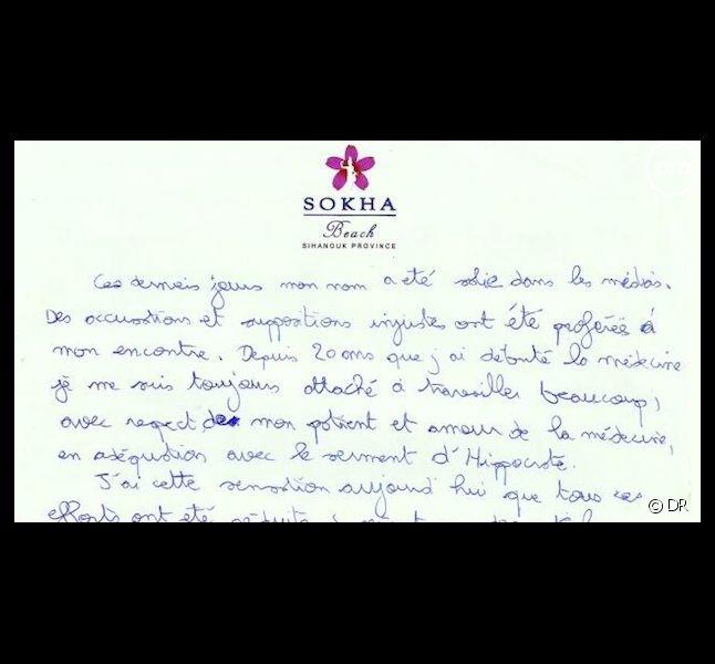 """La lettre de suicide de Thierry Costa, médecin de """"Koh-Lanta"""""""
