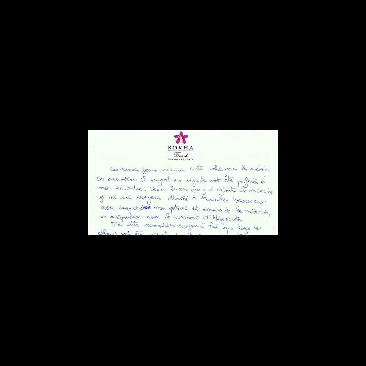 La lettre de suicide de thierry costa m decin de koh lanta pho - Lettre de motivation koh lanta ...