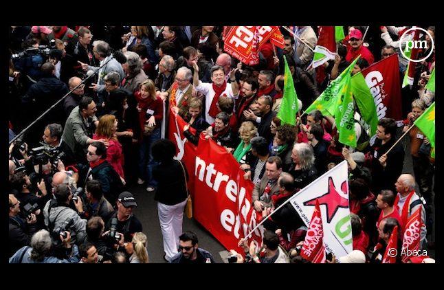Jean-Luc Mélenchon dimanche lors de la manifestation du front de gauche