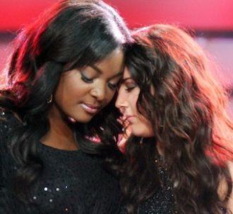 Candice Glover et Kree Harrison lors de la finale...
