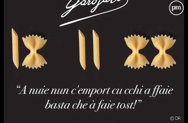 La marque Garofalo surfe sur la polémique Barilla.