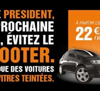 Sixt fait sa publicité sur la liaison Hollande/Gayet