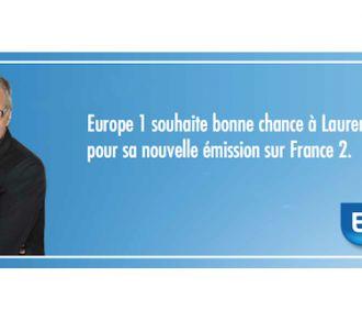 Dans une publicité, Europe 1 'souhaite bonne chance à...