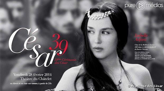 Isabelle Adjani sur l'affiche officielle des César 2014