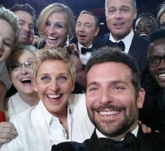 Ellen DeGeneres et quelques amis lors de la cérémonie des...