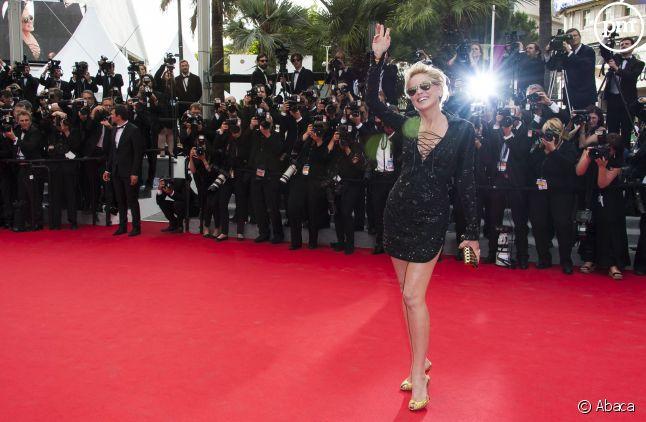 Sharon Stone, rayonnante à Cannes.