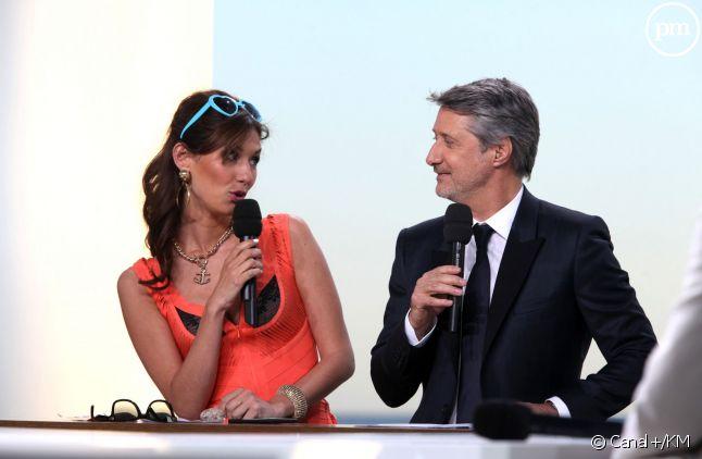 Doria Tillier, irrésistible en cagole du sud, à Cannes, avec Antoine de Caunes.