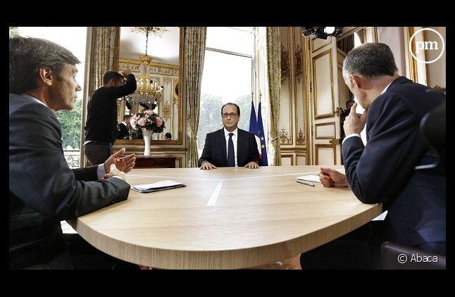 François Hollande lors de l'interview du 14 juillet 2014