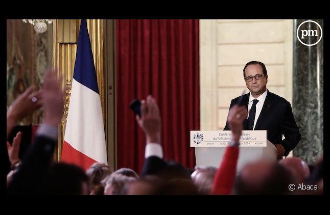 François Hollande hier à l'Elysée