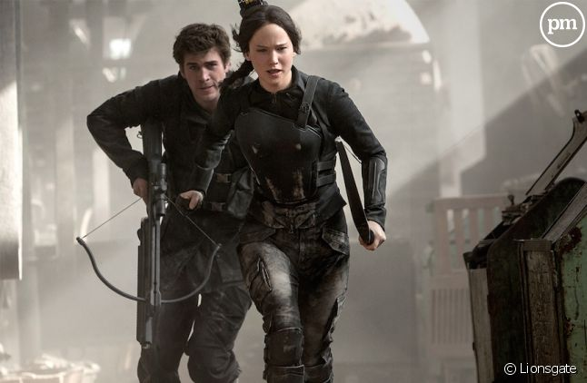 "Liam Hemsworth et Jennifer Lawrence dans ""Hunger Games 3"""