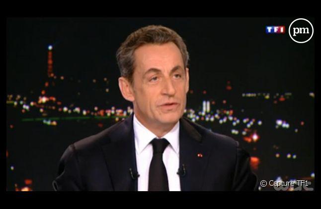 Nicolas Sarkozy sur le plateau de Claire Chazal