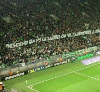 La banderole déployée samedi 21 décembre dans le stade...