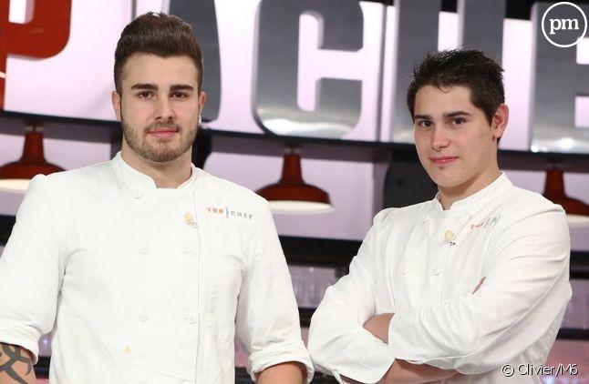 "Kevin et Xavier, finalistes de ""Top Chef"" 2015"