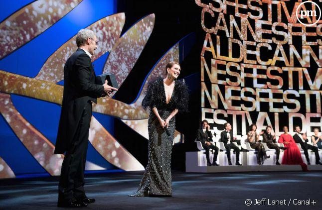 Lambert Wilson et Julianne Moore, hier, lors de la Cérémonie d'ouverture
