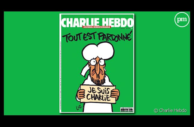 """La Une du """"Charlie Hebdo"""" du 14 janvier 2015 dessinée par Luz"""