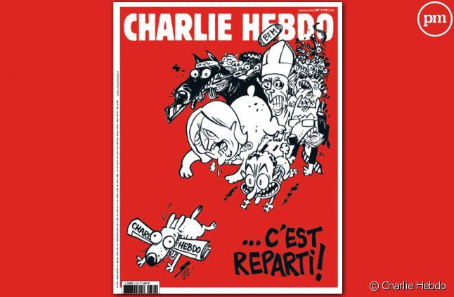 """""""C'est reparti"""" : La Une du nouveau """"Charlie Hebdo"""" dessinée par Luz"""