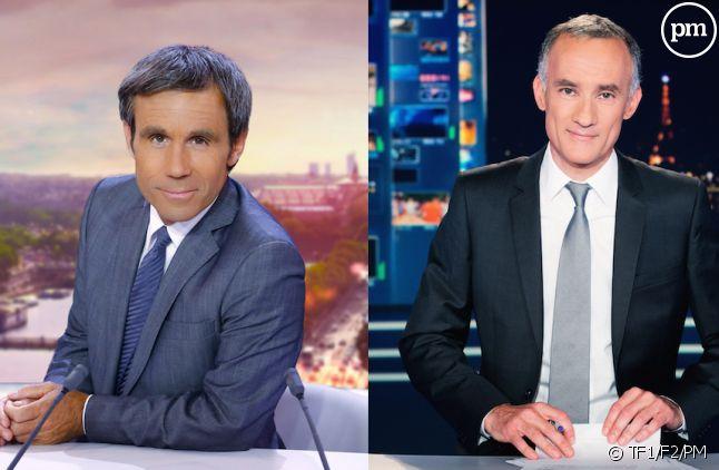 David Pujadas et Gilles Bouleau