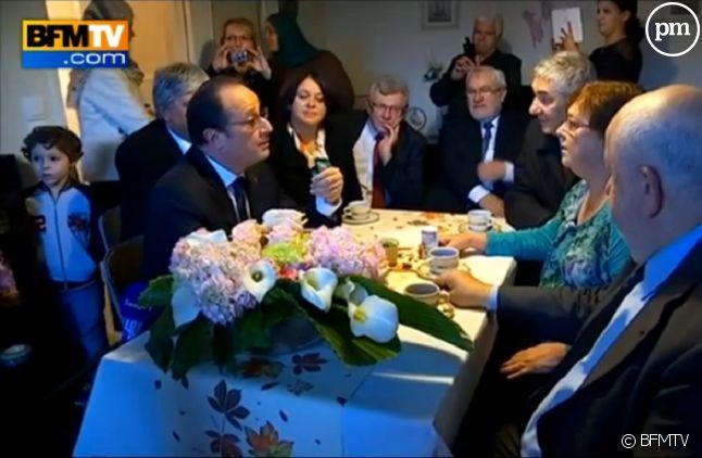 François Hollande chez Lucette