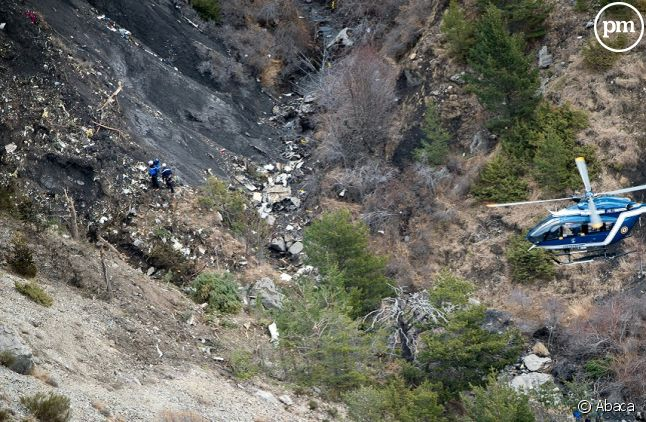 Lieu du crash de l'A320 de la Germanwings