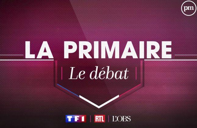 """""""La primaire, le débat"""" sur TF1."""
