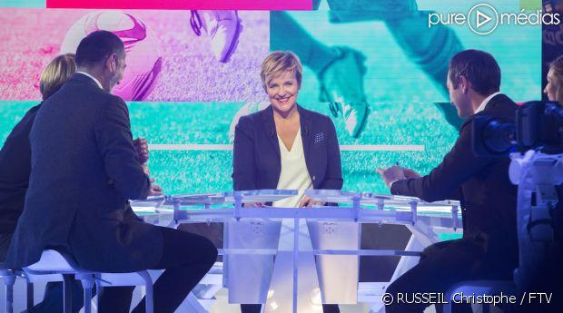 "Céline Géraud dans ""Stade 2"""