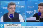"""""""Supportez-moi ou ne m'invitez pas !"""" : Jean-Luc Mélenchon très remonté contre Thomas Sotto sur Europe 1"""