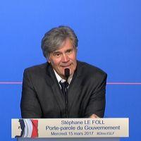 Stéphane Le Foll déplore l'absence de journalistes à son point presse