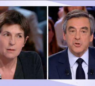 François Fillon et Christine Angot, sur France 2.