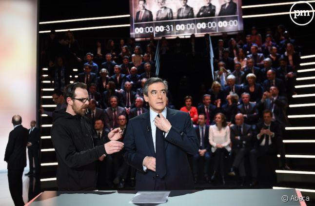 François Fillon avant le débat sur TF1