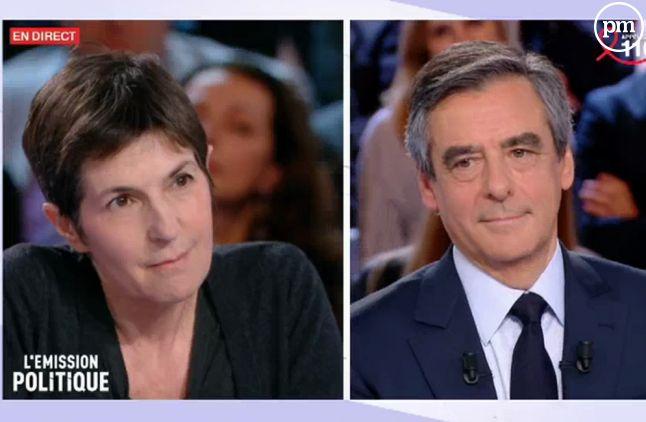 Christine Angot, sur France 2 le 23 mars 2017.